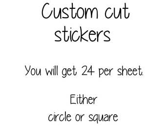 1.5 Inch custom cut stickers / Packaging stickers / Wedding stickers / Logo Stickers / matte stickers