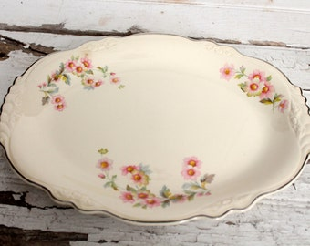 Virginia Rose Vintage Serving Platter - HOMER LAUGHLIN