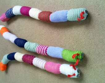 Knitted Long Curly Catterpillar
