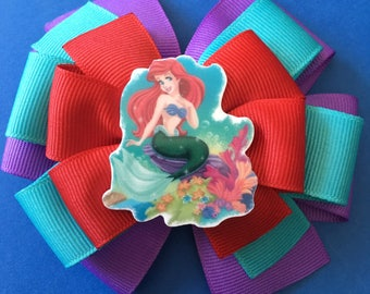Ariel Little Mermaid Girls Hair Bow Girls Baby Toddler Little Mermaid Hair Barrette Accessory