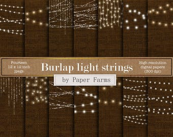 Fairy lights, light strings, burlap backgrounds, linen backgrounds, light effects, vintage lights, burlap, textures, lights, DOWNLOAD