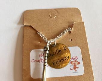 The walking Dead necklace, Negan necklace, Lucille necklace, The Walking dead inspired necklace item 463 by CraftyLittleMonkeyGB