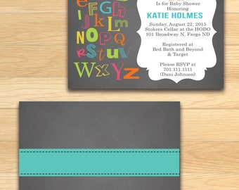 Baby Shower Invitation - Colorful ABC's