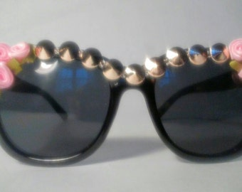 Embellished Sunglasses (Studs and roses)