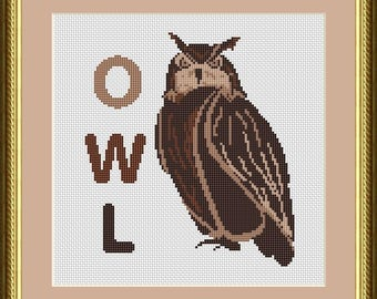Bird cross stitch pattern Bird design cross stitch Bird lover gift Owl Cross Stitch owl Pattern Design Home Decor owl lover gift wild bird