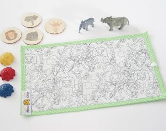 Colouring Mat Add on -Jungle Animals