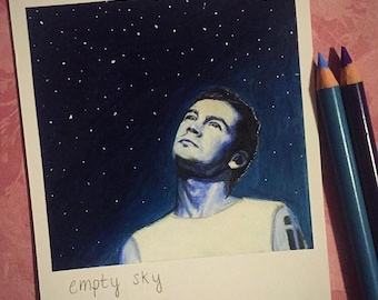 Sky - Print of Polaroid Drawing