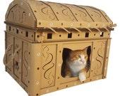 Dead Man's Chest Cardboard Cat House,Unique Cat Furniture, Cat Toy, Cat Bed, Cat Cave, Pet House, Cardboard Furniture,Cat Condo,Cat Gift