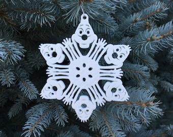 "Olaf Frozen Snowflake Ornament - 4.5"""