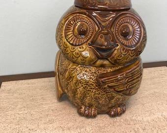 Vintage McCoy Ceramic Owl Cookie Jar USA