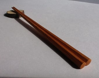 Ichi Personalised Chopsticks Octagonal Japanese Handmade Stuff Wooden chopsticks