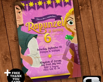 Tangled before ever after Invitation - Tangled Invite - Tangled Birthday Invitation - Tangled Birthday Party - Digital File Download