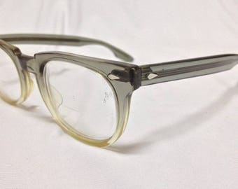 vintage american optical AO glasses eyewear in good condition  grey white