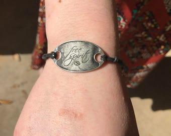 Free spirit charm bracelet or ankle bracelet