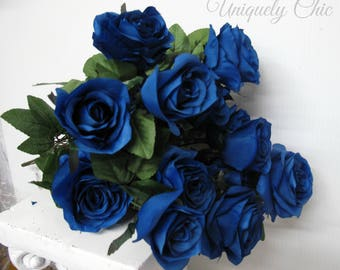 DIY Wedding bouquet, Royal blue rose bush, Wedding centerpiece, DIY Blue rose bouquet, DIY Wedding supplies, Wedding flowers, Wedding decor