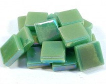 12mm Mosaic Craft Tiles - Spearmint Green Pearlised - 50g