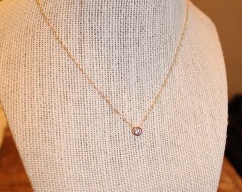 Dainty Crystal Pendant Necklace   cz necklaces, dainty, minimalist crystal necklace, cz necklace, dainty necklace, dainty crystal necklace