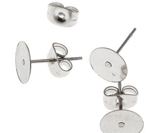25/50pairs Stainless steel studs 8mm