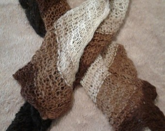 Alpaca Hand Knit Scarf