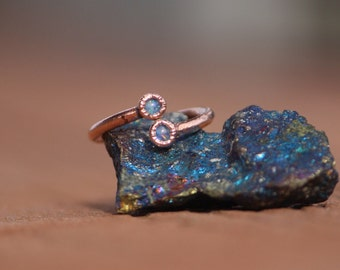 Spiral Opal Ring // Electroformed Copper Jewelry