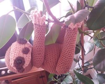 handmade crochet sloth unusual quirky gift idea