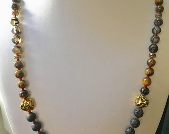 Beaded Lion Necklace