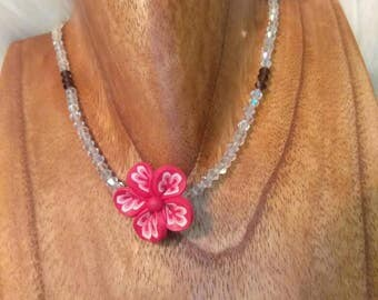 Flower Choker Crystal Necklace