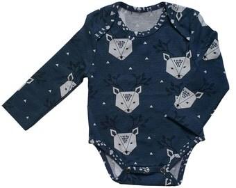 SALE Blue Long Sleeve Organic Cotton Bodysuit FROM 20,00EUR NOW 14,00EUR