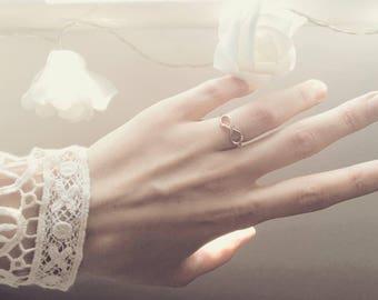 Rose Gold Infinity Ring wedding engagement valentine's day birthday gift