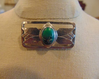 Sterling Silver with Natural Stone Brooch/Pin
