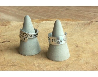 Rings with personal text