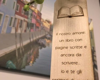 Bookmark custom wood wooden nameplate reading bookmark gift idea Book design