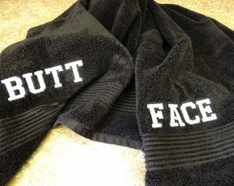 Gag gift towel, butt face towel, party gift, funny Father's day gift idea