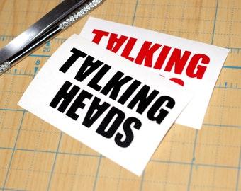 Talking Heads Vinyl Sticker