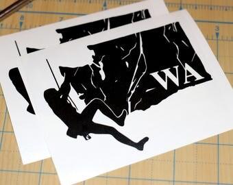 Washington Rock Climbing Sticker | Climbing Decal