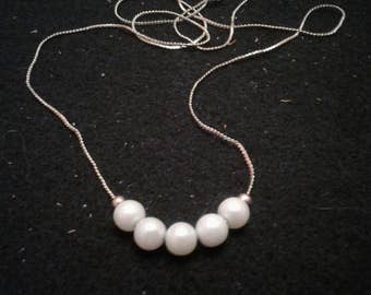 Add-A-Bead Vintage Faux Pearl and Chain Necklace