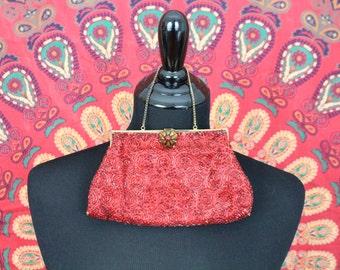 Vintage Red hand bag (40s)