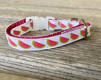 Watermelon Cat Collar, Watermelon Kitten Collar