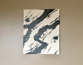 Twin Rivers - Abstract Original Painting, Acrylic Canvas Wall Art