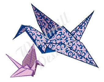 Origami Crane - Machine Embroidery Design