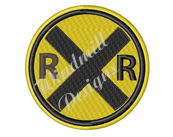 Railroad Crossing - Machine Embroidery Design