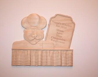 Custom 3d carved wooden kitchen plaque