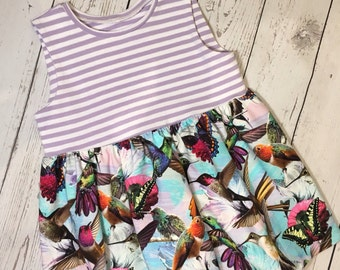 Girls sleeveless digital print jersy dress, baby girls dress, toddler girls dress, girls dress