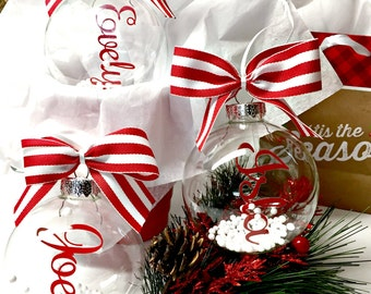 Personalized Christmas Ornament ~Custom Name Ornament ~ Floating Name Ornament