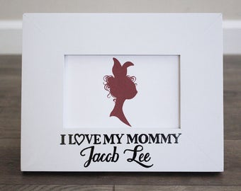 5x7 or 4x6 i love my mommy frame personalized frame for mothers day new baby parent gift first time mom and dad gifts from kids