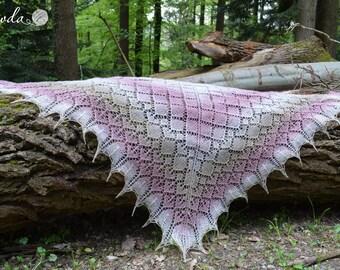Summerly, shawl, stole Kauni wool, handmade