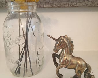 Brass unicorn statue, brass unicorn knick-knack