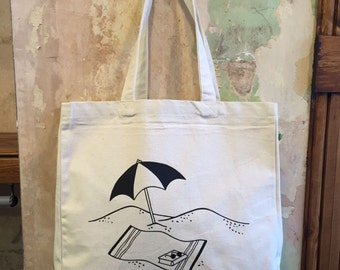 Throw shade, large, canvas tote/shopping/shoulder bag