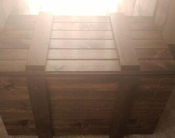 Custom made blanket chest