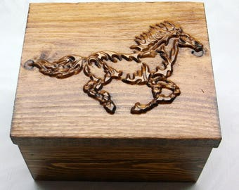 Mothers Day Personalized Flaming Horse  Gift Box  Engraved